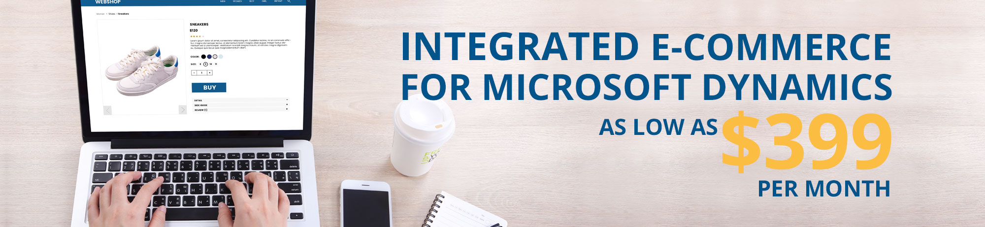 Integrated e-commerce for Microsoft Dynamics